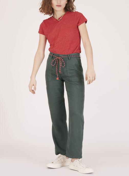 Vêtements Lab Dip Pantalon Jess Tencel Vert vue face