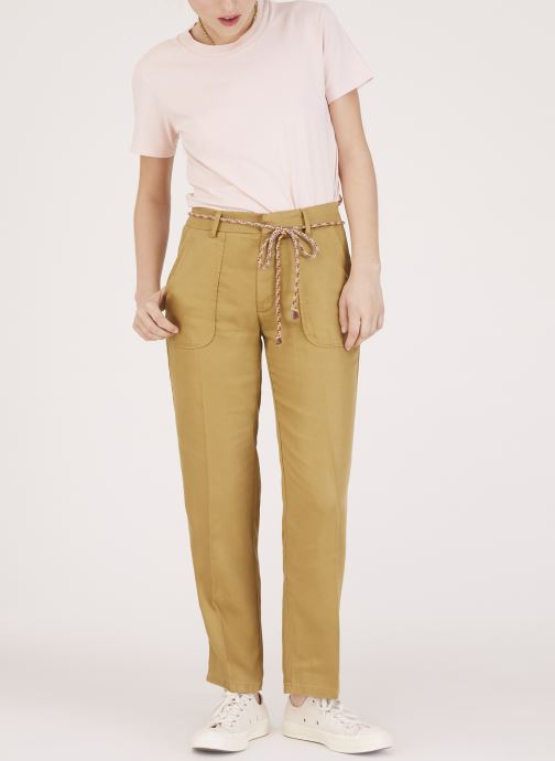 Vêtements Lab Dip Pantalon Jess Tencel Vert vue face