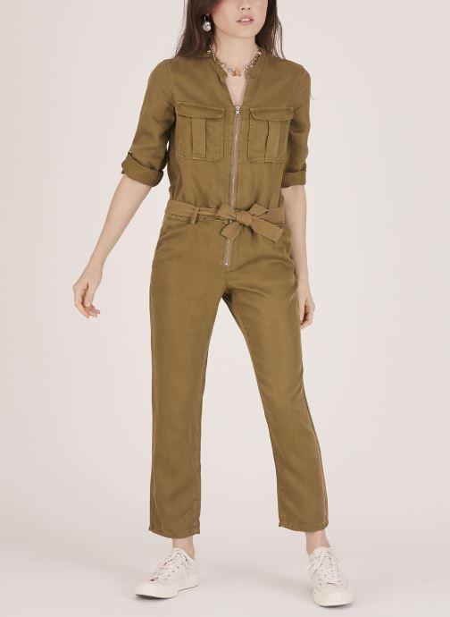 Vêtements Lab Dip Combinaison Leann Tencel Vert vue face
