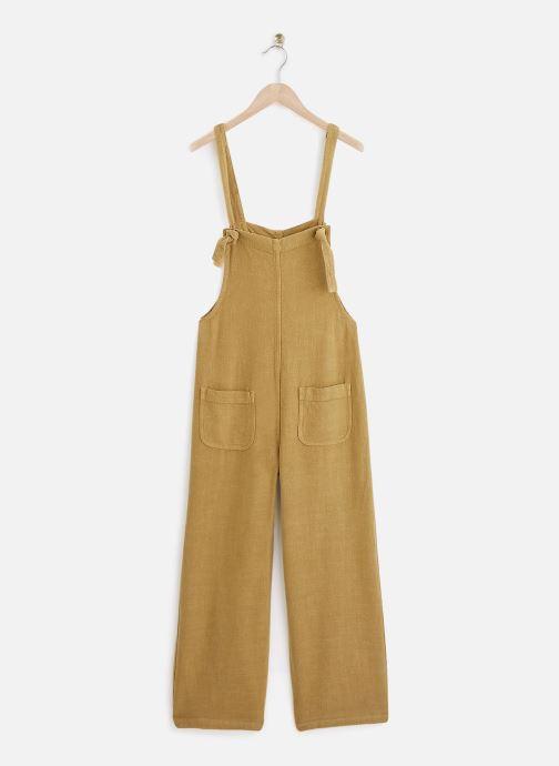 Vêtements Lab Dip Salopette Paula Viscose-Lin Vert vue détail/paire