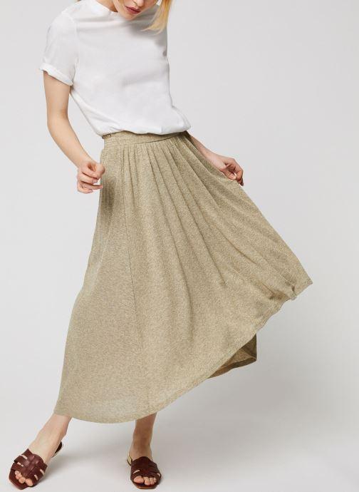Vêtements Louizon Jupe Delta Beige vue bas / vue portée sac