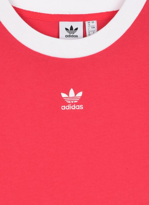 Kleding adidas originals Crop Top Roze voorkant