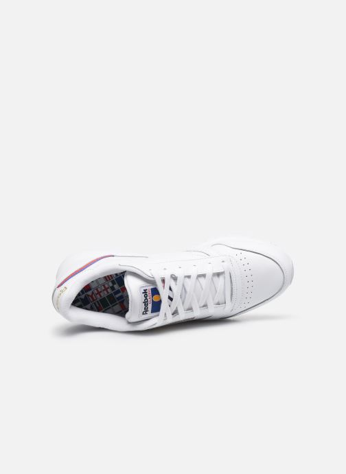 Sneakers Reebok Cl Lthr W Bianco immagine sinistra
