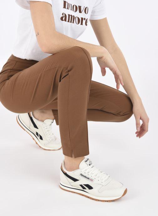 Sneakers Reebok Cl Lthr W Bianco immagine dal basso