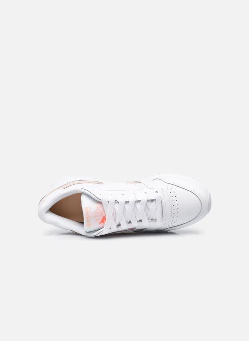Sneakers Reebok Cl Lthr W Bianco immagine sinistra