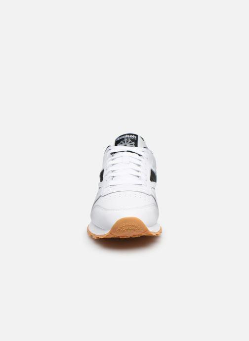 Sneaker Reebok Cl Leather Mark weiß schuhe getragen