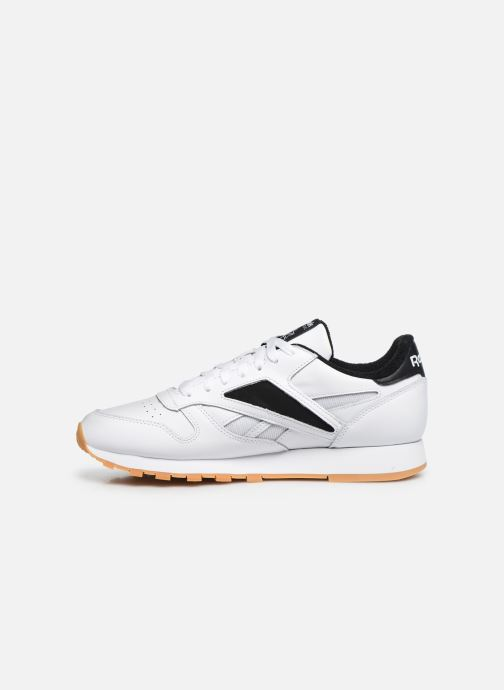 Deportivas Reebok Cl Leather Mark Blanco vista de frente