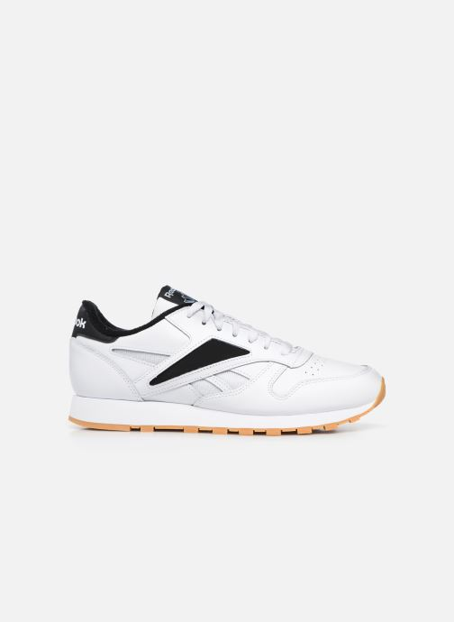 Sneakers Reebok Cl Leather Mark Wit achterkant