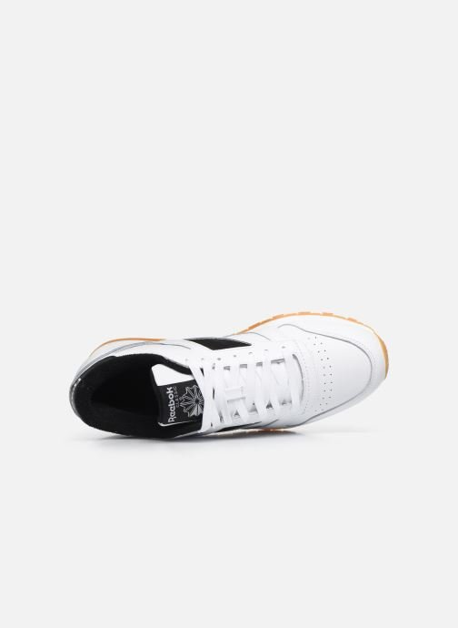 Deportivas Reebok Cl Leather Mark Blanco vista lateral izquierda