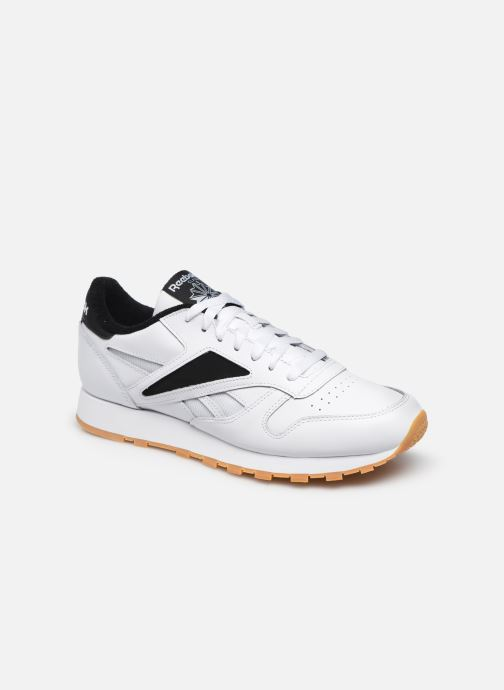 Deportivas Reebok Cl Leather Mark Blanco vista de detalle / par