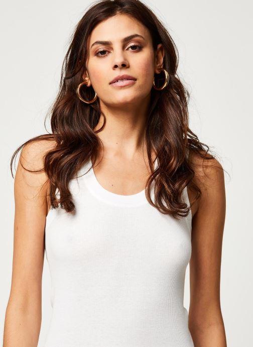 Vêtements Free People U-NECK TANK Blanc vue face