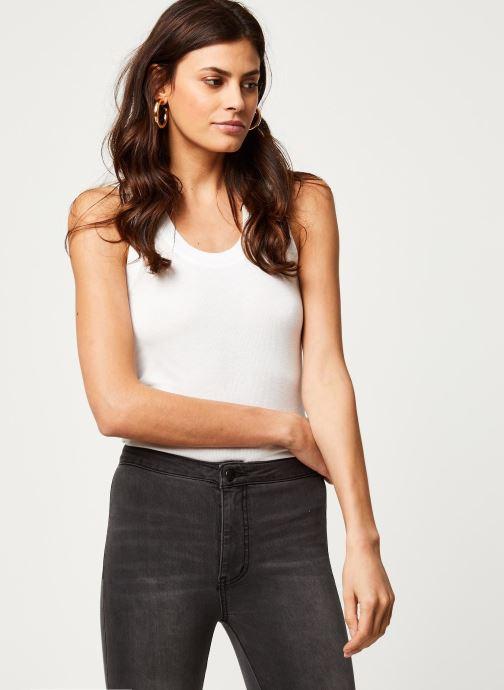 Vêtements Free People U-NECK TANK Blanc vue détail/paire
