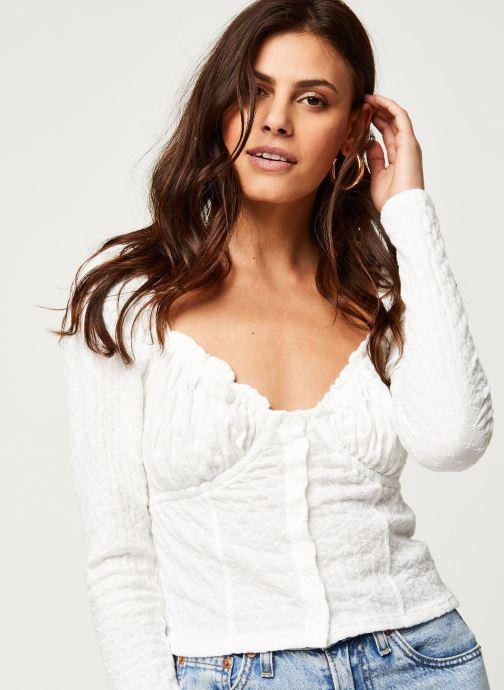 Vêtements Free People LADYBUG LONG SLEEVE Blanc vue face