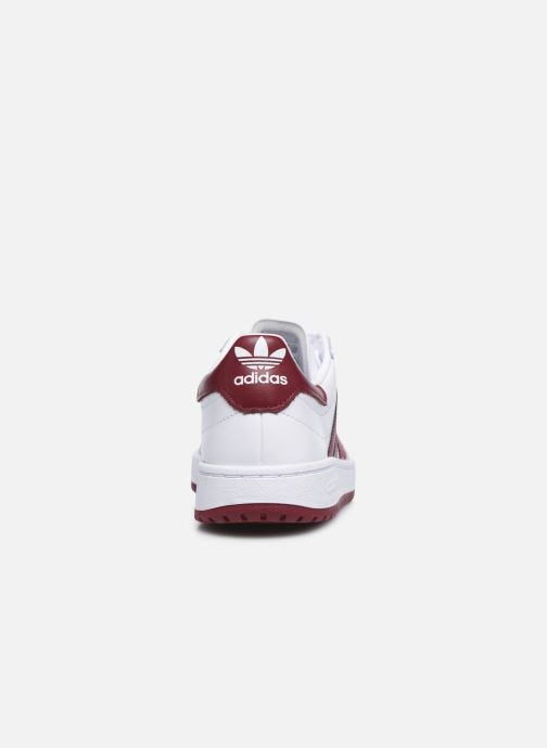Baskets adidas originals Team Court Blanc vue droite