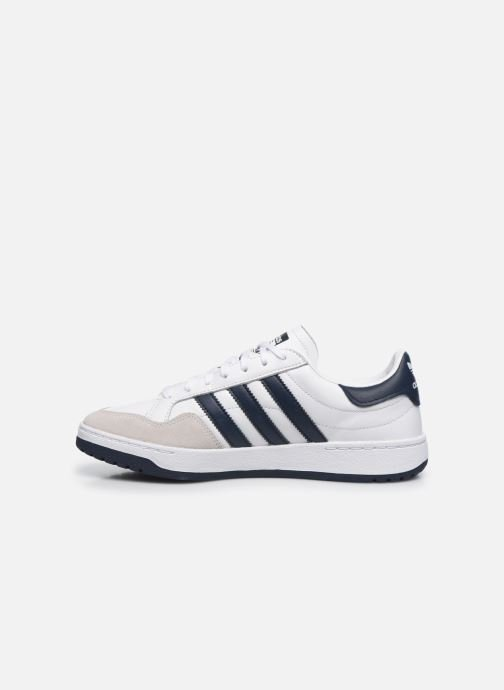 Baskets adidas originals Team Court Blanc vue face