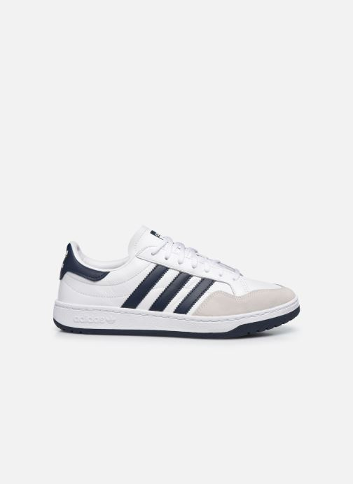 Baskets adidas originals Team Court Blanc vue derrière