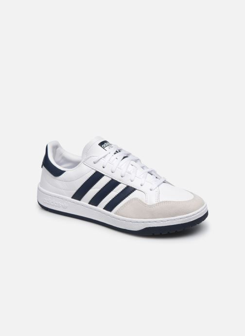 Baskets adidas originals Team Court Blanc vue détail/paire