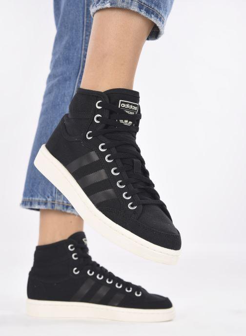 Baskets adidas originals Americana Decon W Noir vue bas / vue portée sac