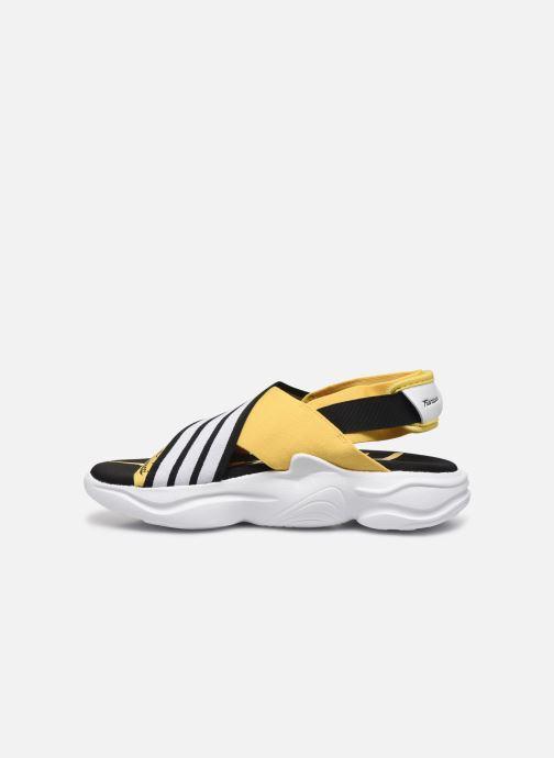 Sandali e scarpe aperte adidas originals Magmur Sandal W Giallo immagine frontale