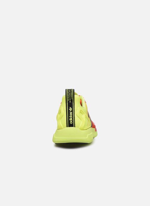 Deportivas adidas originals Zx Fuse Adiprene X Naranja vista lateral derecha
