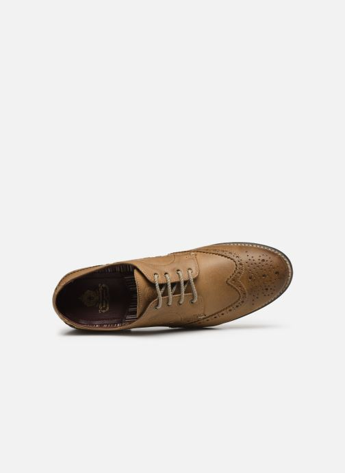 Zapatos con cordones Base London KITCHIN Marrón vista lateral izquierda