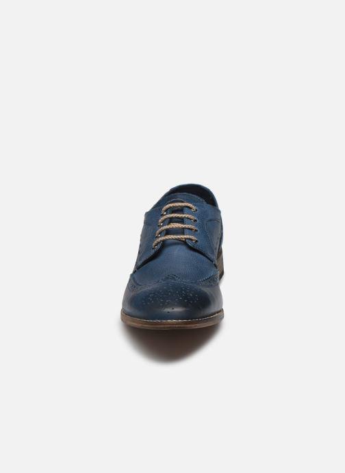 Chaussures à lacets Base London KITCHIN Bleu vue portées chaussures