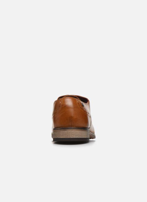 Zapatos con cordones Base London WARBY Marrón vista lateral derecha