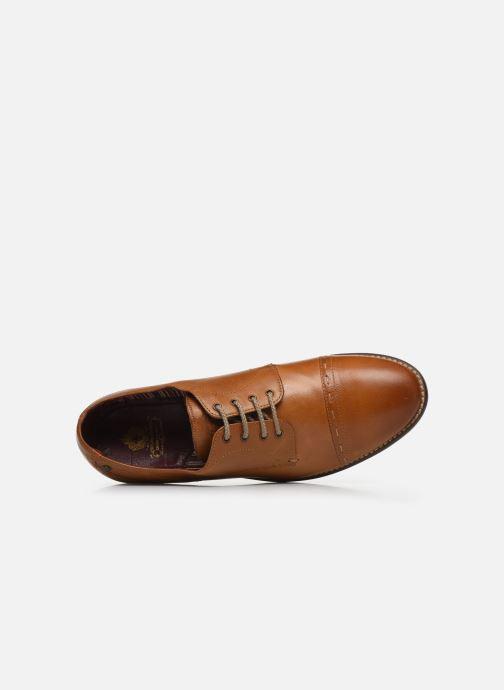 Zapatos con cordones Base London WARBY Marrón vista lateral izquierda