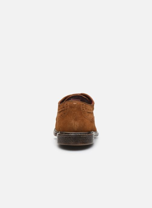 Zapatos con cordones Base London ONYX Marrón vista lateral derecha