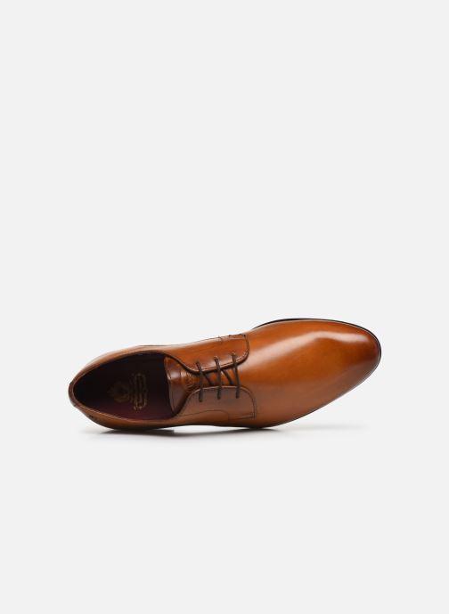 Zapatos con cordones Base London DANSEY Marrón vista lateral izquierda