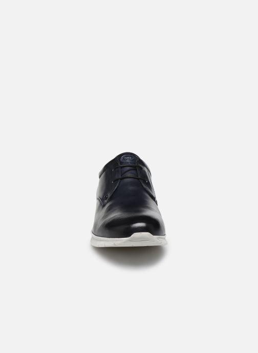 Baskets Base London CUBIC Bleu vue portées chaussures