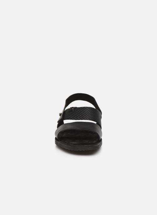 Sandales et nu-pieds Base London EMPIRE Noir vue portées chaussures