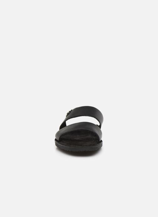 Sandales et nu-pieds Base London JULIUS Noir vue portées chaussures