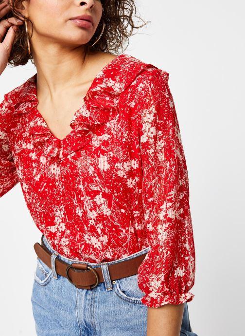 Vêtements Garance TOP DRILLON Rouge vue détail/paire