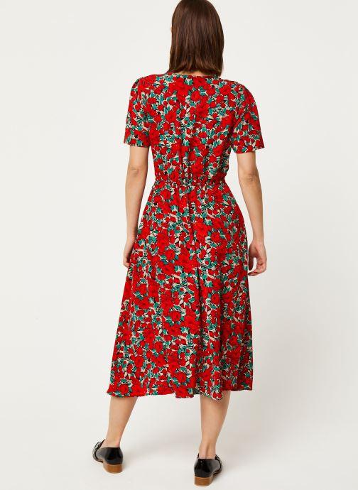 Vêtements Louche Robe Avril Zinnia Rouge vue portées chaussures