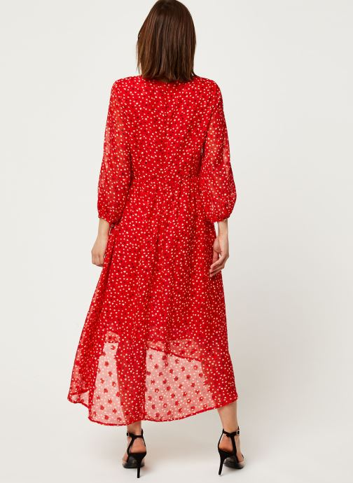 Vêtements Louche Robe Veronique Cupid Rouge vue portées chaussures