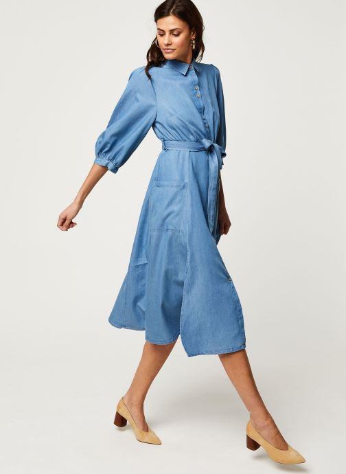 Vêtements Louche Robe Lilwenn Chambray Bleu vue bas / vue portée sac