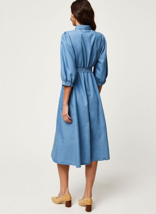 Vêtements Louche Robe Lilwenn Chambray Bleu vue portées chaussures