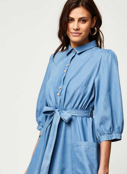 Vêtements Louche Robe Lilwenn Chambray Bleu vue face