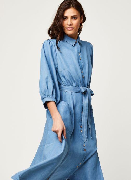 Vêtements Louche Robe Lilwenn Chambray Bleu vue droite