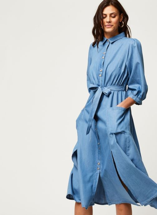Vêtements Louche Robe Lilwenn Chambray Bleu vue détail/paire
