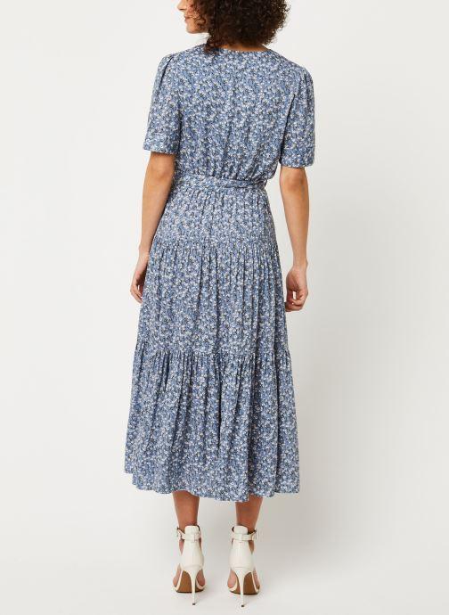 Vêtements Louche Robe Emin Flax Bleu vue portées chaussures
