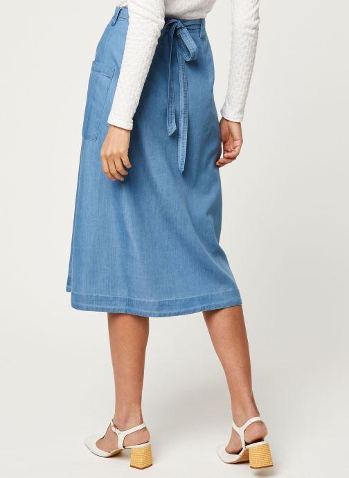 Vêtements Louche Jupe Ari Chambray Bleu vue portées chaussures