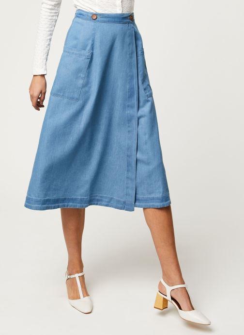 Vêtements Louche Jupe Ari Chambray Bleu vue détail/paire