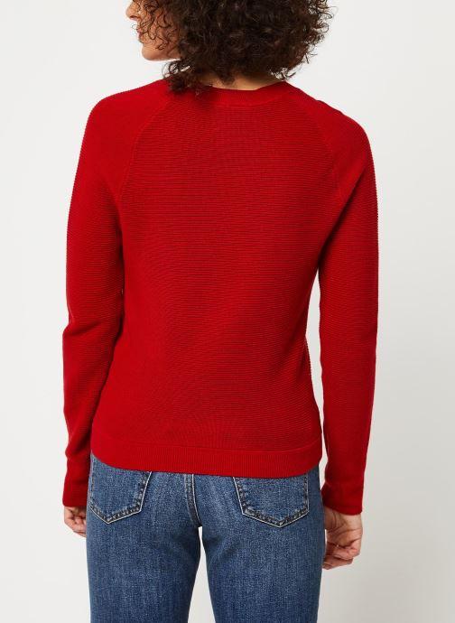 Vêtements Marie Sixtine Sweater Samira Rouge vue portées chaussures