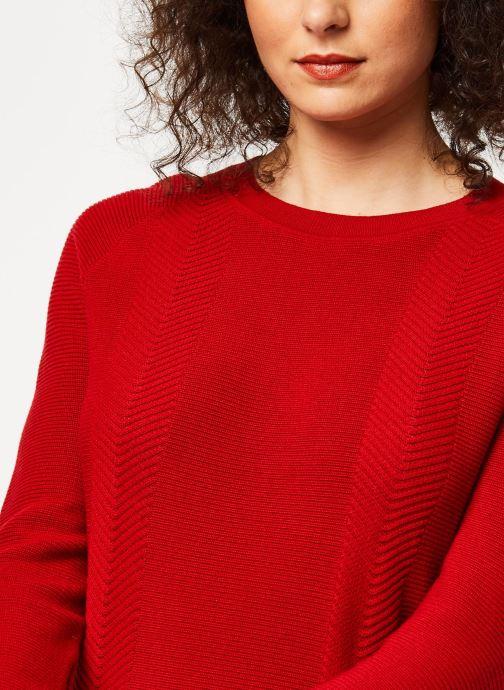 Vêtements Marie Sixtine Sweater Samira Rouge vue face