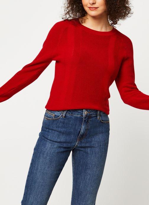 Vêtements Marie Sixtine Sweater Samira Rouge vue détail/paire
