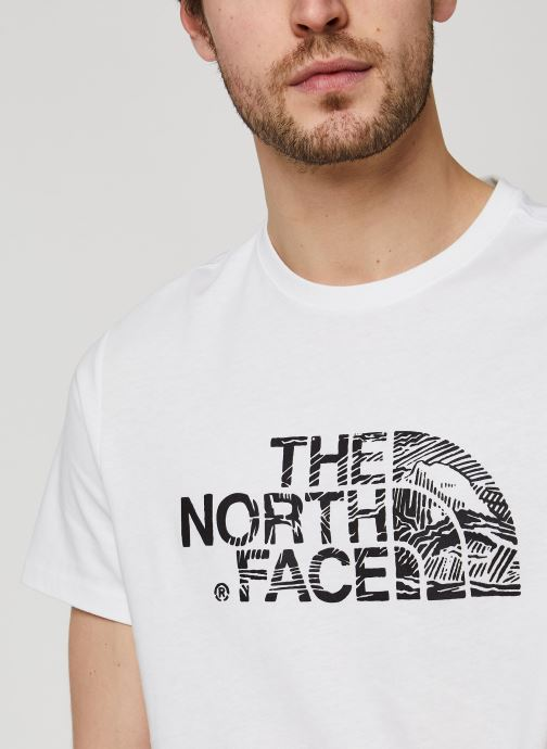 Vêtements The North Face Woodcut Dome Tee Blanc vue face