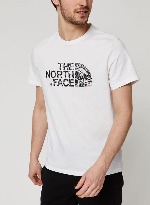 Vêtements The North Face Woodcut Dome Tee Blanc vue droite