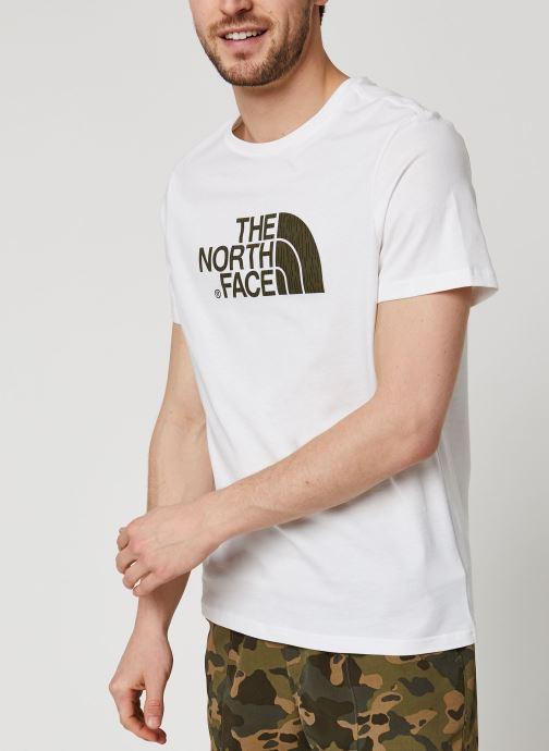 Vêtements The North Face Easy Tee Blanc vue détail/paire